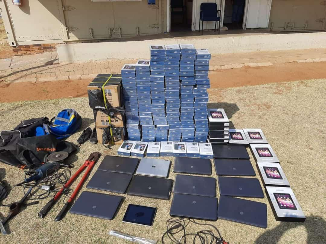 Retrieved goods at Mmoledi Secondary shool